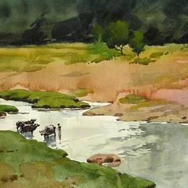 Snehal Page - River Landscape