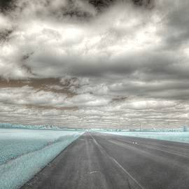 Jane Linders - Road sky infrared clouds landscape open road travel path road trip
