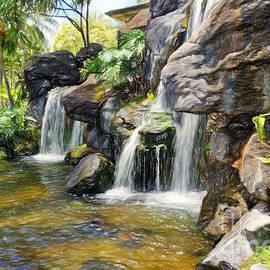 Sue Melvin - Rock Waterfalls in Hawaii