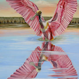Phyllis Beiser - Rockport Roseate Spoonbill