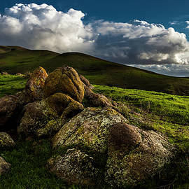 Rocks and Storm Clouds on Mission Peak - Fred Rowe