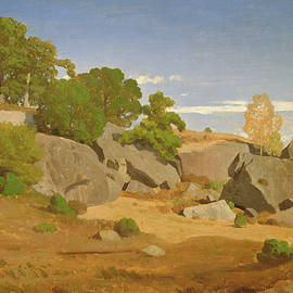 Rocks at Fontainebleau - Theodore Caruelle d