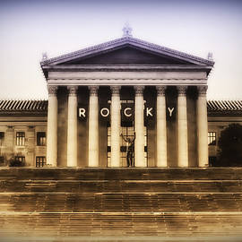 Bill Cannon - Rocky on the Art Museum Steps