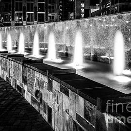 Romare Bearden Park Fountain Black and White Photo - Paul Velgos