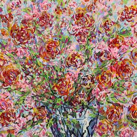 Leonard Holland - Rose Bouquet in Glass Vase