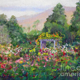 Joan Coffey - Rose Garden In Bloom