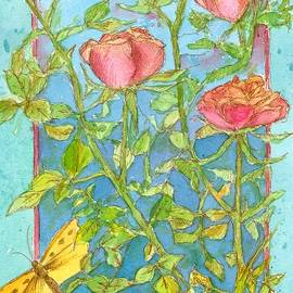 Cathie Richardson - Roses and Butterflies