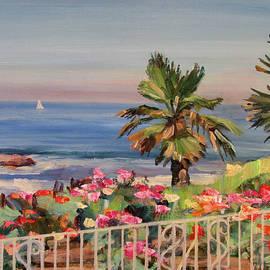 Robert Gerdes - Roses by the Sea Laguna Beach