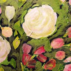 Patricia Taylor - Roses on Green