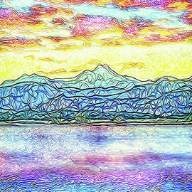 Joel Bruce Wallach - Rosy Sunset Lake - Boulder County Colorado