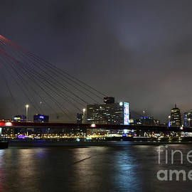Carlos Alkmin - Rotterdam - Willemsbrug at Night
