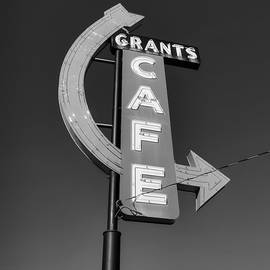 Lance Vaughn - Route 66 - Grants Cafe BW