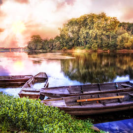 Debra and Dave Vanderlaan - Rowboats on the River at Dawn