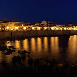 Georgia Mizuleva - Royal Blue and Gold - Syracuse Sicily from the Sea Promenade