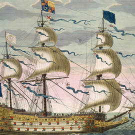 Royal flagship of the English fleet - Pierre Mortier