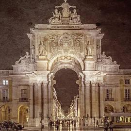 Joan Carroll - Rua Agusta Arch Lisbon Textured