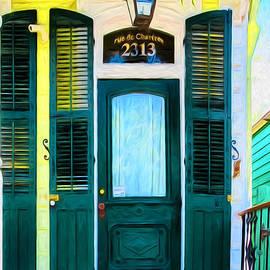 Kathleen K Parker - rue de Chartres- NOLA- Painted