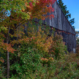 Jeff Folger - Rustic barn above the fall colors