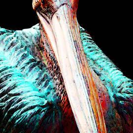 Sharon Cummings - Rusty - Pelican Art Painting by Sharon Cummings