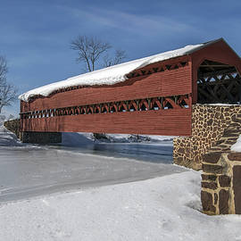 Dave Sandt - Sachs Covered Bridge in the winter.