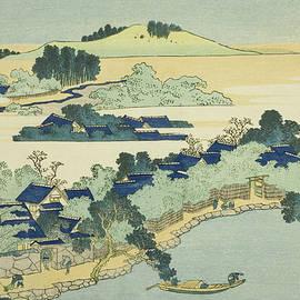 Sacred Fountain at Castle Peak - Hokusai