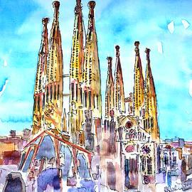 M Bleichner - Sagrada Famila in Barcelona with Blue Sky
