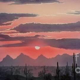 Jerry Bokowski - Saguaro Silhouettes