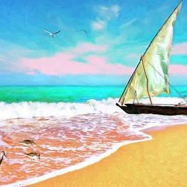Sandra Selle Rodriguez - Sail Boat on the Shore
