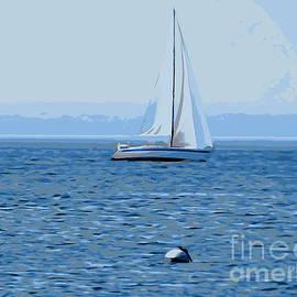 Ed Weidman - Sailboat In Blue