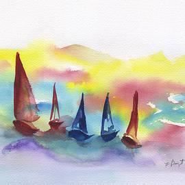 Frank Bright - Sailing Abstract