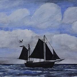 Linda Brody - Sailing Ship Silhouette