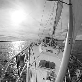 Sailing Yacht Fate Beneteau 49 Black and White - Dustin K Ryan