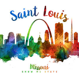 Saint Louis Missouri Skyline 25 - Aged Pixel