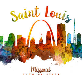 Saint Louis Missouri Skyline 26 - Aged Pixel