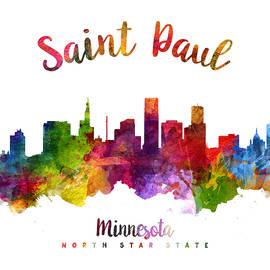 Saint Paul Minnesota Skyline 23 - Aged Pixel