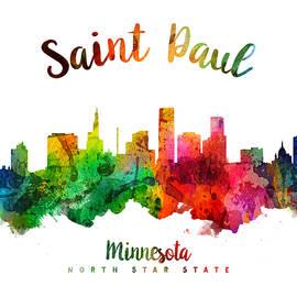 Saint Paul Minnesota Skyline 24 - Aged Pixel