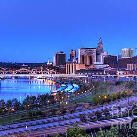 Wayne Moran - Saint Paul Minnesota Skyline Blue Morning Light