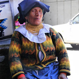 Al Bourassa - Saleslady At San Francisco Square - Cuenca Ecuador
