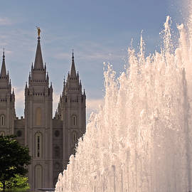 Rona Black - Salt Lake Temple and Fountain