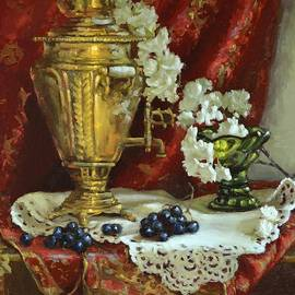 Viktoria K Majestic - Samovar and Cherry Blossoms