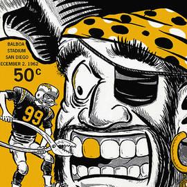 Big 88 Artworks - San Diego Chargers VS Oakland Raiders 1962 Program