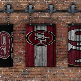 SAN FRANCISCO 49ERS BRICK WALL - Joe Hamilton