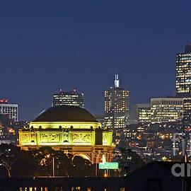 Carlos Alkmin - San Francisco Skyline at Night - Palace of Fine Arts