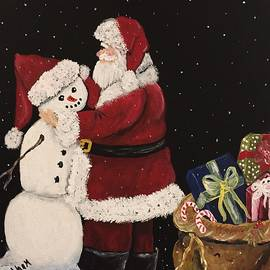 Suzanne Brabham - Santa and the Snowman