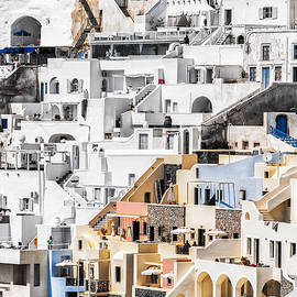 Antony McAulay - Santorini Fira steep perspective