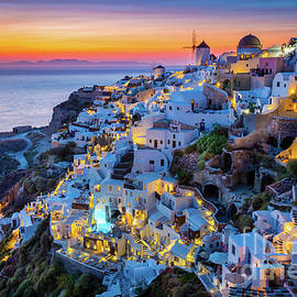 Inge Johnsson - Santorini Sunset