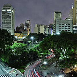 Carlos Alkmin - Sao Paulo Downtown at Night - Praca do Correio