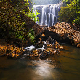 Vishwanath Bhat - Sathodi Falls in Western Ghats in India