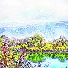 Joel Bruce Wallach - Satin Mist Over Lake - Boulder County Colorado