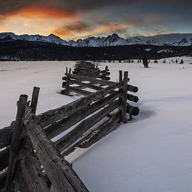 Vishwanath Bhat - Sawtooth Stanley Sunset in Winter